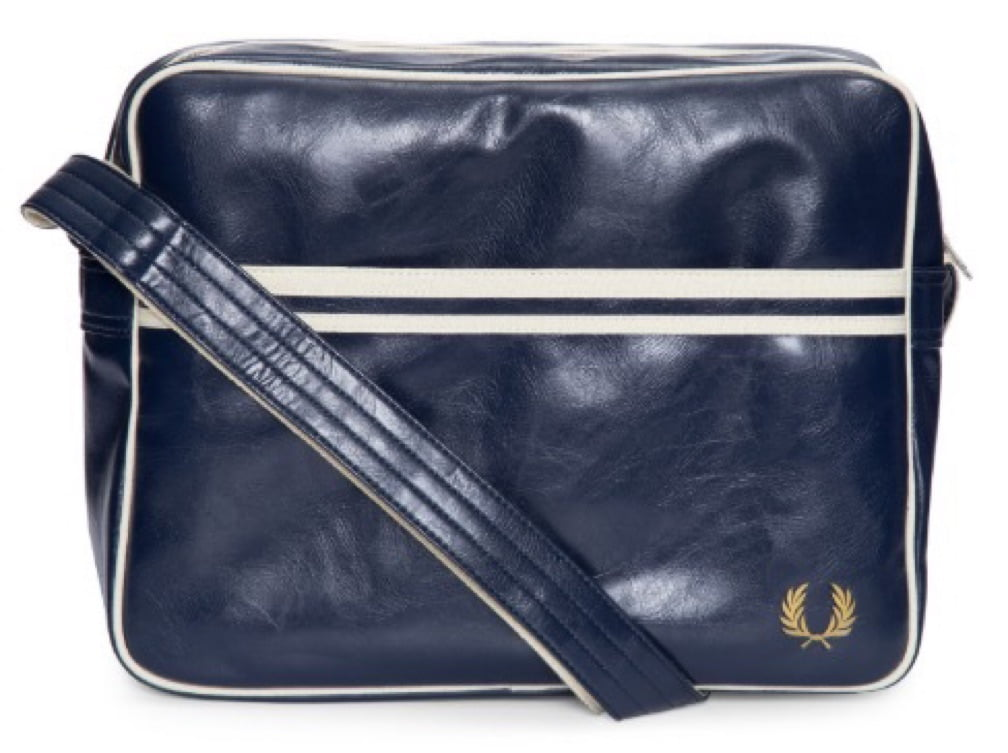 BOLSA FRED PERRY CLASSIC SHOULDER MARINHO