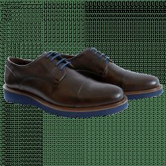 Sapato Casual Bicolor Café Blue
