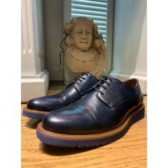 Sapato Casual Bicolor Preto Blue