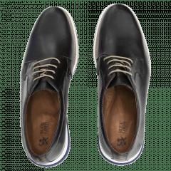 Sapato Preto Cadarço Sola Bicolor