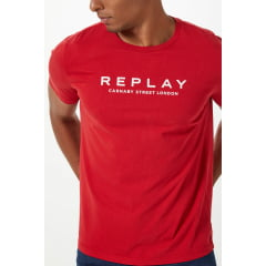 T-SHIRT REPLAY CARNABY RED
