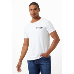 REPLAY CAMISETA BRANCA ESCAPE THE ORDINARY
